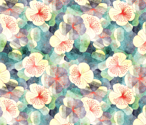 dreamy garden fabric by kociara on Spoonflower - custom fabric