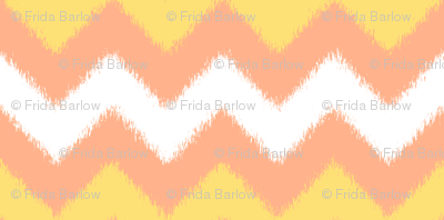 Orange Cream Popsicle Chevron Ikat