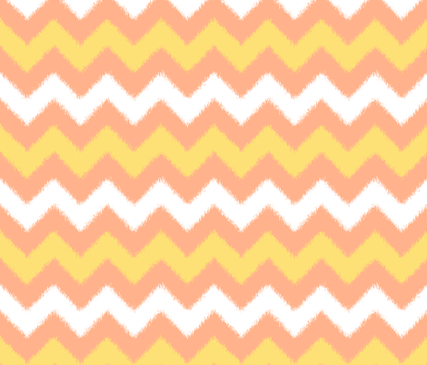 Orange Cream Popsicle Chevron Ikat fabric by fridabarlow on Spoonflower - custom fabric