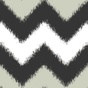 Ikat Chevron in Black, White and Gray