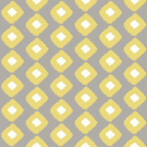 Ikat Square Grey Citron