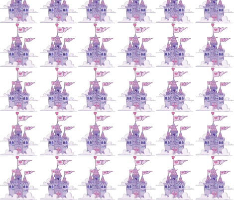 princess_castles fabric by vos_designs on Spoonflower - custom fabric