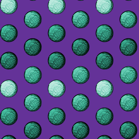 Teal Spheres fabric by pond_ripple on Spoonflower - custom fabric