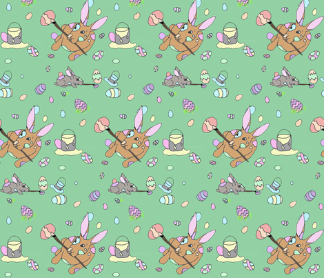 bunnies1 fabric by 3handsstudio on Spoonflower - custom fabric