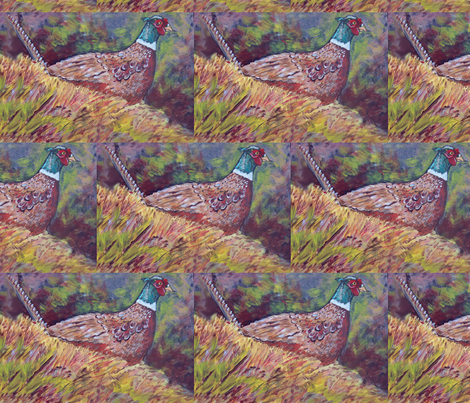 my_pheasant fabric by dogdaze_ on Spoonflower - custom fabric