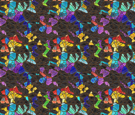 black and color fabric by kociara on Spoonflower - custom fabric