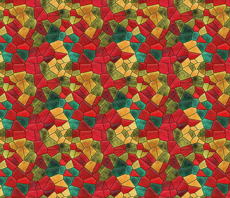 red and gold fabric by kociara on Spoonflower - custom fabric