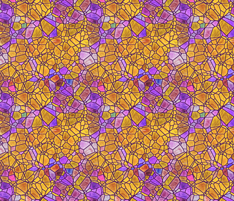 purple and gold fabric by kociara on Spoonflower - custom fabric