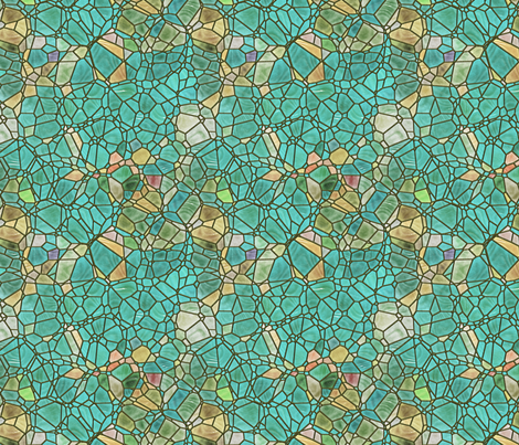 sea green fabric by kociara on Spoonflower - custom fabric