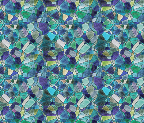 turquoise and blue fabric by kociara on Spoonflower - custom fabric