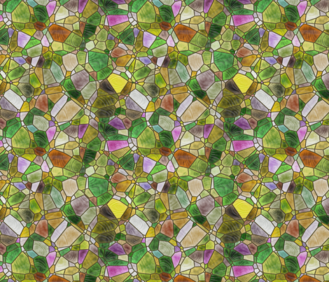 green and yellow fabric by kociara on Spoonflower - custom fabric