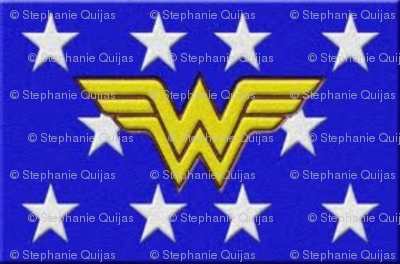 wonderwoman logo blue