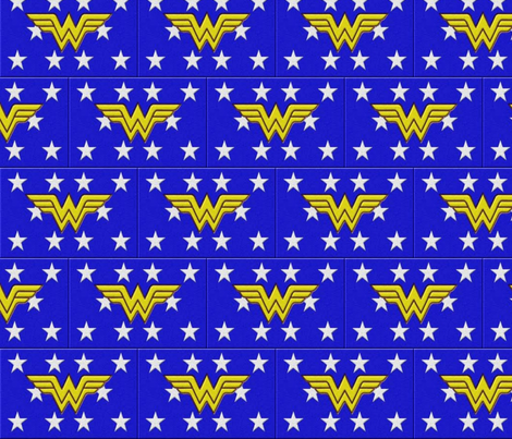 wonderwoman logo blue fabric by tefaq1 on Spoonflower - custom fabric