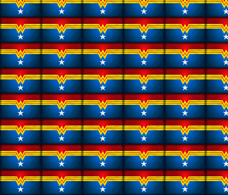 wonder_woman_2-ed fabric by tefaq1 on Spoonflower - custom fabric