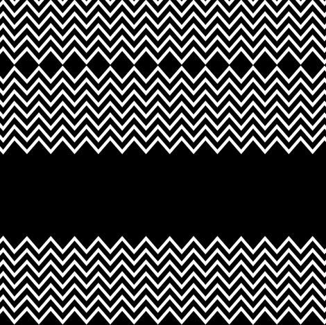 chevron black based fabric by pencilmein on Spoonflower - custom fabric
