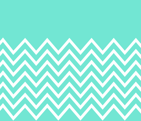 chevron mint based fabric by pencilmein on Spoonflower - custom fabric