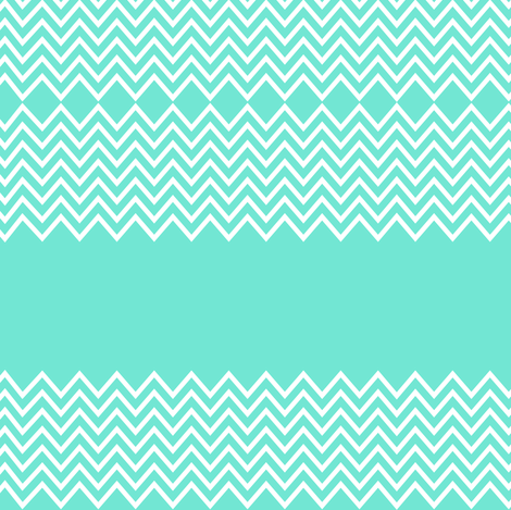 mint chevron fabric by pencilmein on Spoonflower - custom fabric