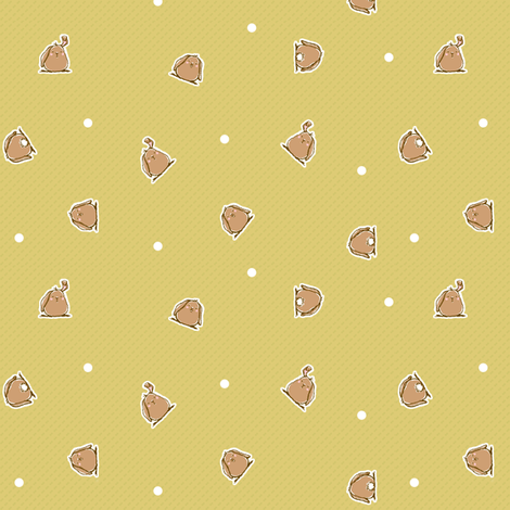 Bunnies SAGE fabric by puddlefoot on Spoonflower - custom fabric