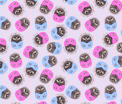 hedgehog baby fabric by loopy_canadian on Spoonflower - custom fabric