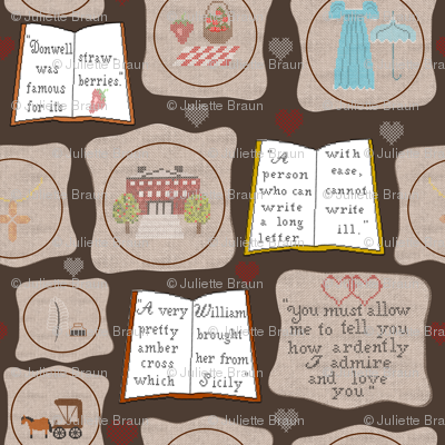 Cross stitch with Jane Austen