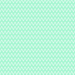 Small Light Mint Chevron