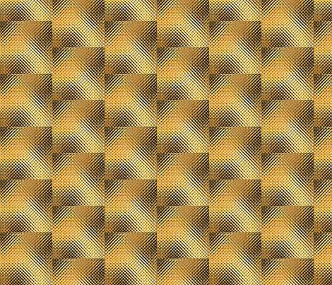 Golden_tiles fabric by retroretro on Spoonflower - custom fabric