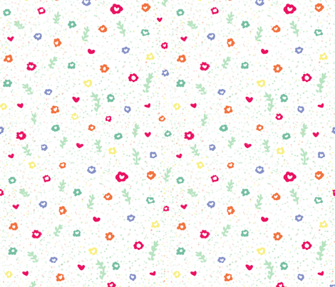 Little Flowers fabric by arttreedesigns on Spoonflower - custom fabric