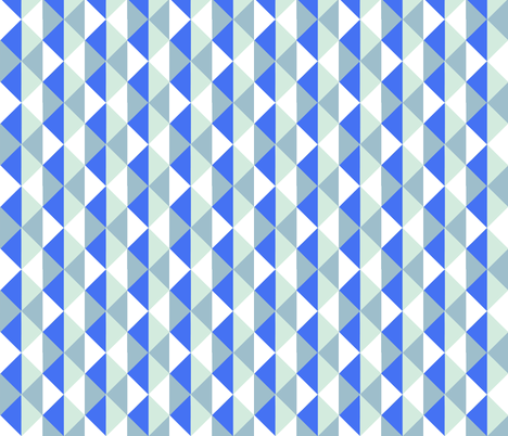 trio blue fabric by myracle on Spoonflower - custom fabric