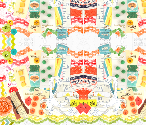 The Seamstress fabric by vintagegreenlimited on Spoonflower - custom fabric