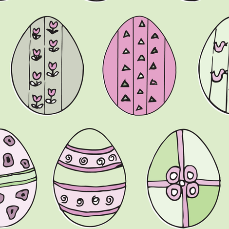 Eggs_Alive_8 fabric by ttpie on Spoonflower - custom fabric