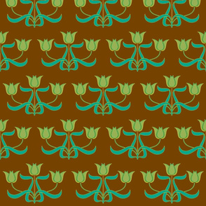 Art Nouveau44-brown/teal