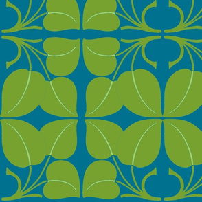 Art Nouveau13-blue/green