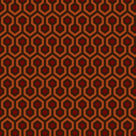 room 237, half size fabric by dennisthebadger on Spoonflower - custom fabric