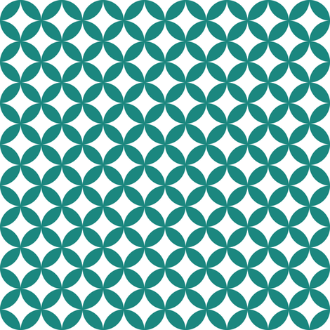 teal pattern 4 fabric by dennisthebadger on Spoonflower - custom fabric