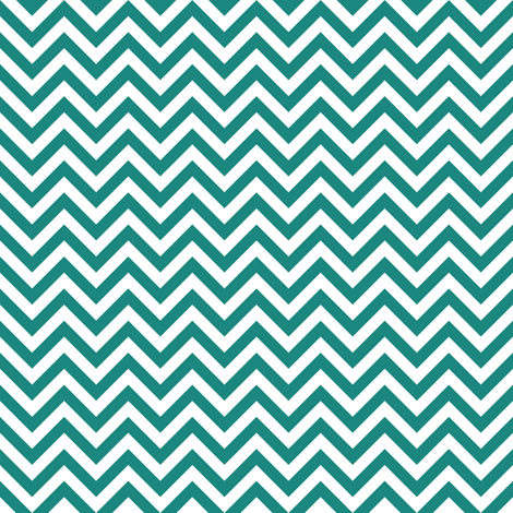 teal chevron fabric by dennisthebadger on Spoonflower - custom fabric
