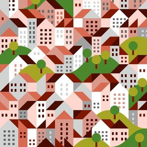 town pattern, residential