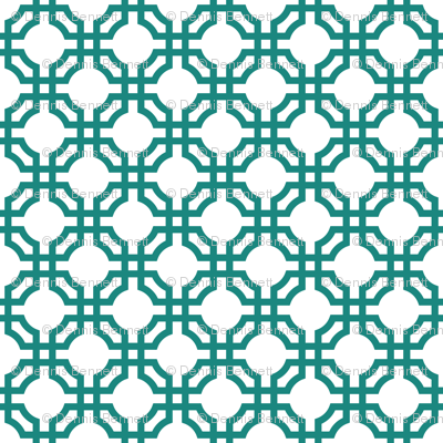 teal chinese pattern