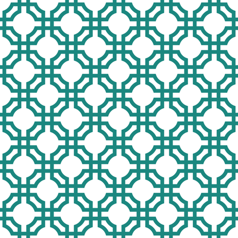 teal chinese pattern fabric by dennisthebadger on Spoonflower - custom fabric