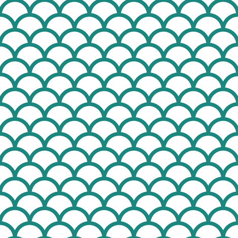 teal scales fabric by dennisthebadger on Spoonflower - custom fabric
