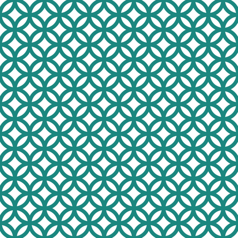 interlocking circles fabric by dennisthebadger on Spoonflower - custom fabric