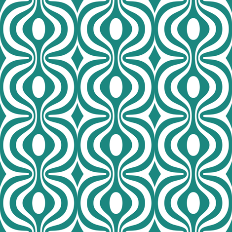 teal vintage pattern 2 fabric by dennisthebadger on Spoonflower - custom fabric