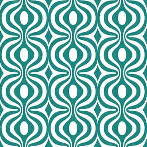 teal vintage pattern 2