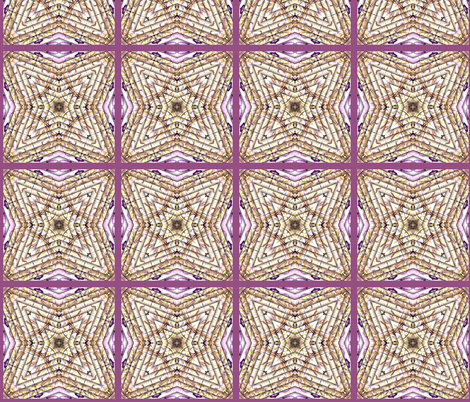 Single square from cheater quilt of polymer clay. fabric by koalalady on Spoonflower - custom fabric