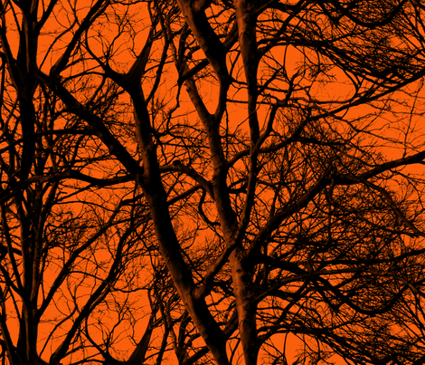 The Tree Lace ~ Halloween II fabric by peacoquettedesigns on Spoonflower - custom fabric