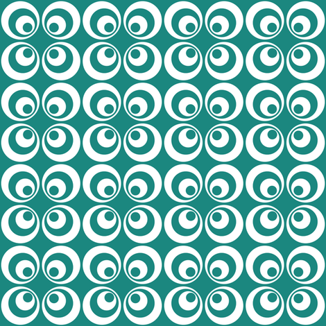 teal retro circles fabric by dennisthebadger on Spoonflower - custom fabric