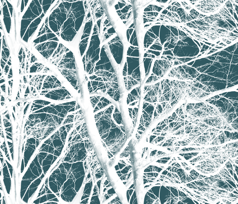 The Tree Lace ~ Winter fabric by peacoquettedesigns on Spoonflower - custom fabric