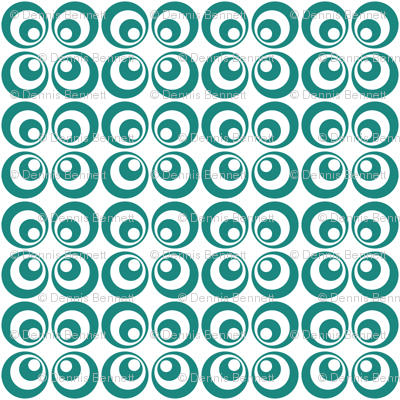 teal retro circles 2