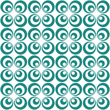 teal retro circles 2 fabric by dennisthebadger on Spoonflower - custom fabric