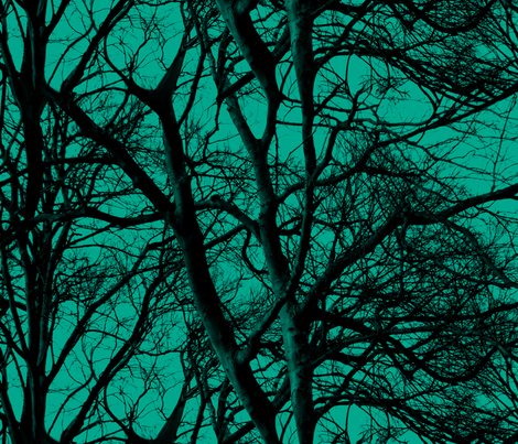 The Tree Lace ~ Emerald fabric by peacoquettedesigns on Spoonflower - custom fabric