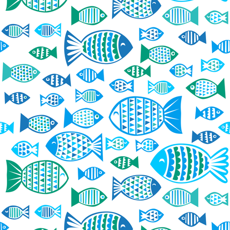 under the sea - fish fabric by dennisthebadger on Spoonflower - custom fabric